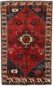Shiraz Matta 147X239 Äkta Orientalisk Handknuten Svart/Mörkröd/Roströd (Ull, Persien/Iran)