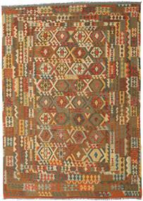 Kelim Afghan Old Style Matta 248X347 Äkta Orientalisk Handvävd Brun/Ljusbrun (Ull, Afghanistan)