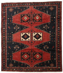 Klardasht Matta 253X298 Äkta Orientalisk Handknuten Mörkröd/Svart Stor (Ull, Persien/Iran)