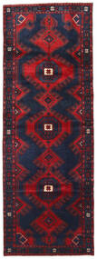 Hamadan Matta 107X300 Äkta Orientalisk Handknuten Hallmatta Svart/Mörkröd (Ull, Persien/Iran)