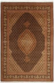 Tabriz 50 Raj Matta 204X301 Äkta Orientalisk Handvävd Brun (Ull/Silke, Persien/Iran)
