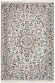 Nain 9La Matta 114X173 Äkta Orientalisk Handvävd Ljusgrå/Mörkgrå (Ull/Silke, Persien/Iran)