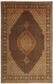 Tabriz 50 Raj Matta 203X311 Äkta Orientalisk Handvävd Brun/Mörkbrun/Ljusbrun (Ull/Silke, Persien/Iran)