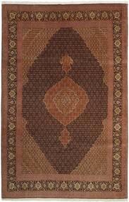 Tabriz 50 Raj Matta 202X309 Äkta Orientalisk Handvävd Brun/Mörkröd/Mörkbrun (Ull/Silke, Persien/Iran)