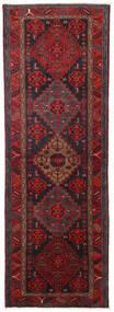 Hamadan Matta 104X309 Äkta Orientalisk Handknuten Hallmatta Mörkröd/Svart (Ull, Persien/Iran)