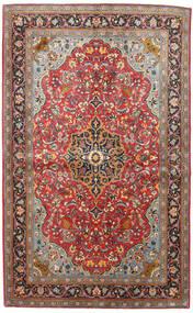 Sarough Matta 133X217 Äkta Orientalisk Handknuten Mörkröd/Svart (Ull, Persien/Iran)