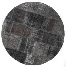 Patchwork - Persien/Iran Matta Ø 150 Äkta Modern Handknuten Rund Svart/Mörkgrå (Ull, Persien/Iran)