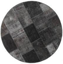 Patchwork - Persien/Iran Matta Ø 150 Äkta Modern Handknuten Rund Mörkgrå/Svart (Ull, Persien/Iran)