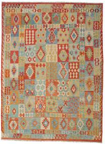 Kelim Afghan Old Style Matta 252X350 Äkta Orientalisk Handvävd Ljusgrå/Mörkbeige Stor (Ull, Afghanistan)