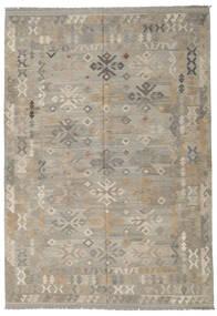 Kelim Afghan Old Style Matta 205X296 Äkta Orientalisk Handvävd Ljusgrå (Ull, Afghanistan)