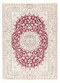 Nain 6La Matta 126X175 Äkta Orientalisk Handvävd Beige/Vit/Cremefärgad/Ljusrosa (Ull/Silke, Persien/Iran)