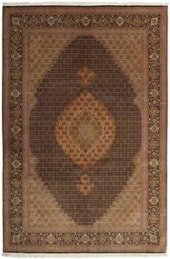 Tabriz 50 Raj Matta 200X298 Äkta Orientalisk Handvävd Brun/Mörkbrun (Ull/Silke, Persien/Iran)