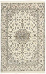 Nain 6La Matta 154X240 Äkta Orientalisk Handvävd Beige/Ljusgrå (Ull/Silke, Persien/Iran)