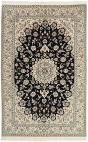 Nain 6La Matta 154X240 Äkta Orientalisk Handvävd Ljusgrå/Mörkbrun (Ull/Silke, Persien/Iran)