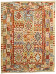 Kelim Afghan Old Style Matta 263X343 Äkta Orientalisk Handvävd Mörkbeige/Brun Stor (Ull, Afghanistan)