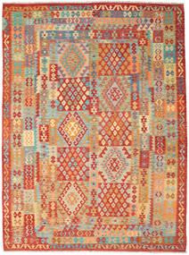 Kelim Afghan Old Style Matta 257X348 Äkta Orientalisk Handvävd Röd/Ljusbrun Stor (Ull, Afghanistan)