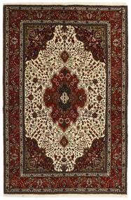 Tabriz 40 Raj Matta 151X221 Äkta Orientalisk Handvävd Mörkbrun/Beige (Ull/Silke, Persien/Iran)
