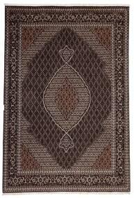 Tabriz 40 Raj Matta 200X300 Äkta Orientalisk Handvävd Mörkbrun/Ljusbrun (Ull/Silke, Persien/Iran)