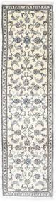 Nain Matta 77X284 Äkta Orientalisk Handknuten Hallmatta Beige/Ljusgrå (Ull, Persien/Iran)