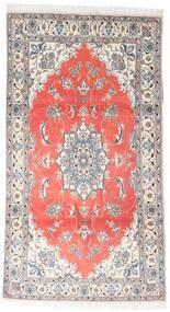 Nain Matta 120X215 Äkta Orientalisk Handknuten Vit/Cremefärgad/Ljusgrå (Ull, Persien/Iran)