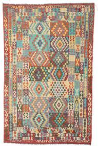 Kelim Afghan Old Style Matta 191X305 Äkta Orientalisk Handvävd Brun/Mörkbeige (Ull, Afghanistan)