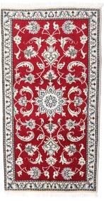 Nain Matta 70X135 Äkta Orientalisk Handknuten Röd/Ljusgrå (Ull, Persien/Iran)