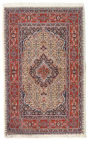 Moud Matta 74X119 Äkta Orientalisk Handknuten Mörkröd/Beige (Ull/Silke, Persien/Iran)