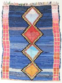 Berber Moroccan - Boucherouite Matta 172X220 Äkta Modern Handknuten Blå/Mörkblå ( Marocko)
