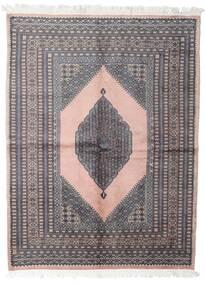 Pakistan Bokhara 3Ply Matta 147X193 Äkta Orientalisk Handknuten Mörkgrå/Vit/Cremefärgad (Ull, Pakistan)