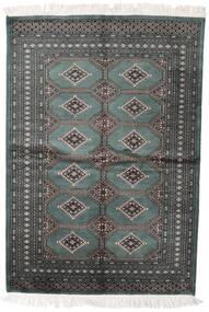 Pakistan Bokhara 2Ply Matta 140X204 Äkta Orientalisk Handknuten Mörkgrå/Mörkgrön (Ull, Pakistan)