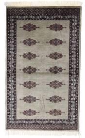 Pakistan Bokhara 2Ply Matta 91X153 Äkta Orientalisk Handknuten Ljusgrå/Mörkröd (Ull, Pakistan)