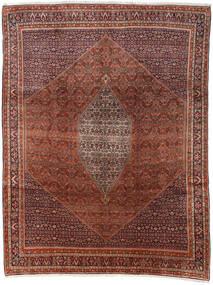 Bidjar Matta 285X374 Äkta Orientalisk Handknuten Mörkbrun/Mörkröd Stor (Ull, Persien/Iran)