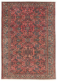 Bakhtiar Matta 220X311 Äkta Orientalisk Handknuten Mörkröd/Svart (Ull, Persien/Iran)