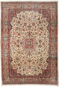 Sarough Matta 256X370 Äkta Orientalisk Handknuten Ljusbrun/Mörkgrå Stor (Ull, Persien/Iran)