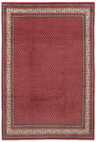Sarough Mir Matta 212X310 Äkta Orientalisk Handknuten Röd/Mörkröd (Ull, Persien/Iran)