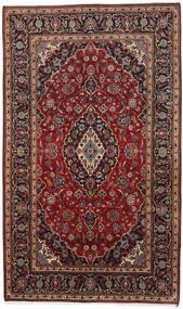 Keshan Matta 178X294 Äkta Orientalisk Handknuten Mörkröd/Mörkbrun (Ull, Persien/Iran)