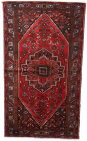 Hamadan Matta 133X236 Äkta Orientalisk Handknuten Mörkröd (Ull, Persien/Iran)