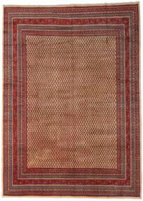 Sarough Mir Matta 289X399 Äkta Orientalisk Handknuten Mörkbrun/Mörkröd Stor (Ull, Persien/Iran)