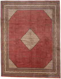 Sarough Mir Matta 302X390 Äkta Orientalisk Handknuten Mörkröd/Ljusbrun Stor (Ull, Persien/Iran)