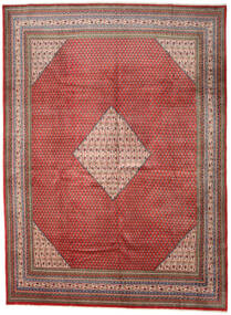 Sarough Mir Matta 292X393 Äkta Orientalisk Handknuten Mörkröd/Mörkgrå Stor (Ull, Persien/Iran)