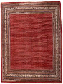 Sarough Mir Matta 273X363 Äkta Orientalisk Handknuten Mörkröd/Roströd Stor (Ull, Persien/Iran)