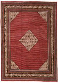 Sarough Mir Matta 263X368 Äkta Orientalisk Handknuten Mörkröd/Mörkbrun Stor (Ull, Persien/Iran)