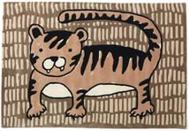 Cool Cat - Beige Matta 120X180 Modern Brun/Ljusbrun (Ull, Indien)