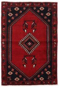 Klardasht Matta 87X128 Äkta Orientalisk Handknuten Mörkröd/Röd (Ull, Persien/Iran)