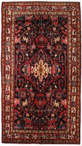 Nahavand Matta 156X278 Äkta Orientalisk Handknuten Mörkröd/Svart (Ull, Persien/Iran)