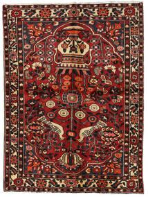 Bakhtiar Matta 156X209 Äkta Orientalisk Handknuten Mörkröd/Mörkbrun (Ull, Persien/Iran)