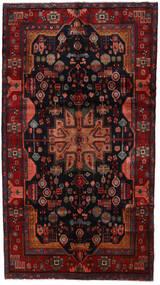 Nahavand Matta 158X286 Äkta Orientalisk Handknuten Mörkröd/Svart (Ull, Persien/Iran)