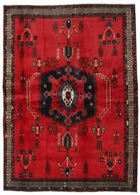 Afshar Matta 169X236 Äkta Orientalisk Handknuten Röd/Mörkbrun (Ull, Persien/Iran)