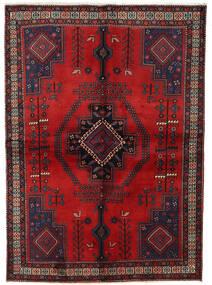 Afshar Matta 158X221 Äkta Orientalisk Handknuten Mörkröd/Mörkbrun (Ull, Persien/Iran)