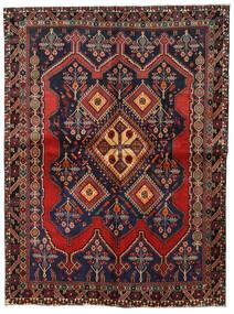 Afshar Matta 158X211 Äkta Orientalisk Handknuten Mörkgrå/Mörkröd (Ull, Persien/Iran)
